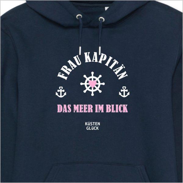 Hoodie navy Frau Kapitän Küstenglück