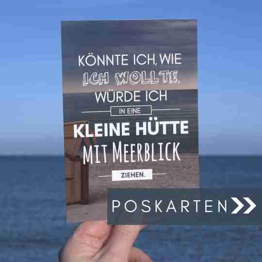 Meer Sprüche Postkarte