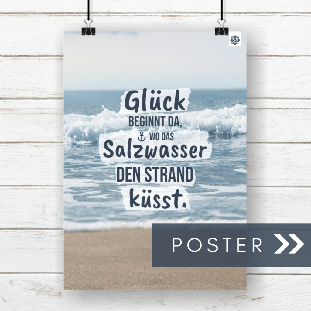 Meer Spruch Poster