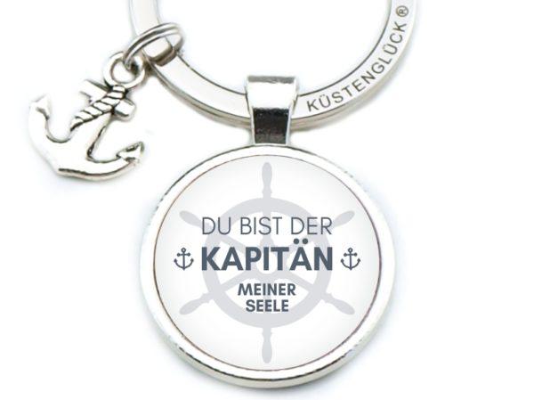 Schlüsselanhänger Spruch Du Bist Der Kapitän Küstenglück