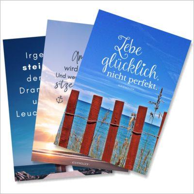 XL-Postkarte 3er Pack Küstenglück