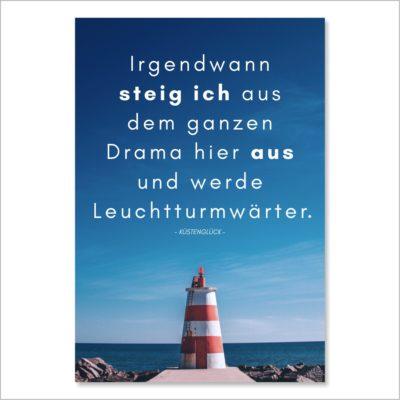 XL-Postkarte Leuchtturm Küstenglück