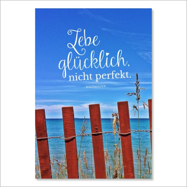 XL-Postkarte Lebe Glücklich Küstenglück