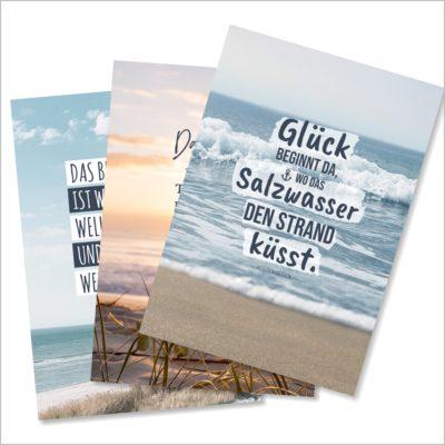 XL-Postkarte 3er Pack Glück Küstenglück