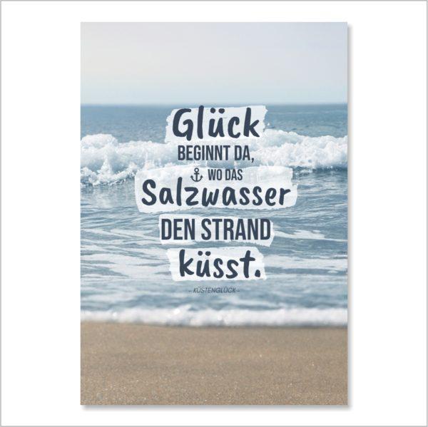 XL-Postkarte Strand Küssen Küstenglück